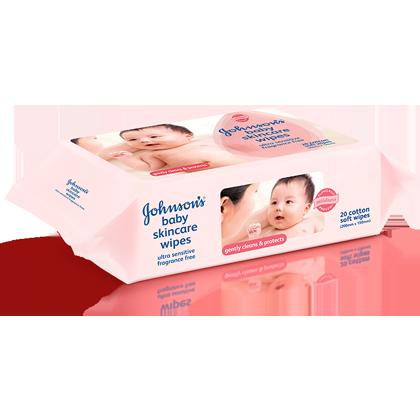 JOHNSON'S® baby fragrance free wipes