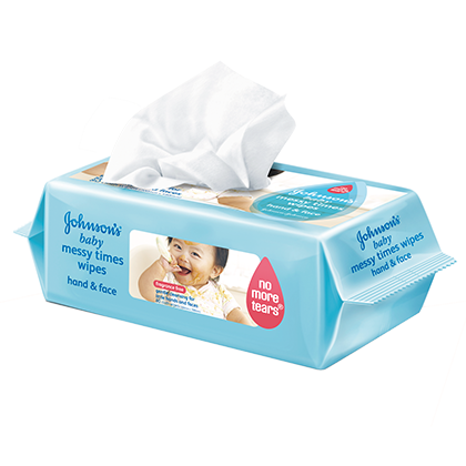 JOHNSON'S® baby messy times wipes